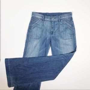7FAMK Super Flare Wide Leg Jean